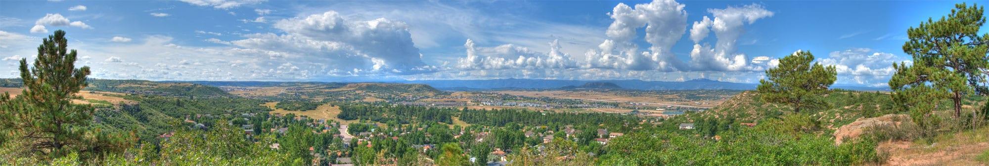Castle Rock Colorado Front Range Panorama
