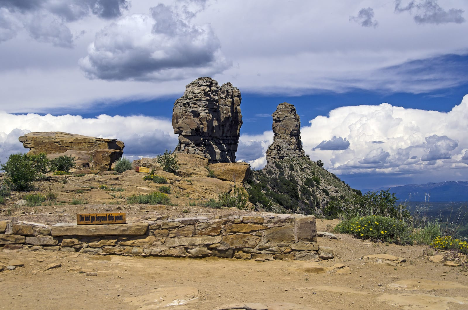 Chimney Rock National Monument Ruins Colorado