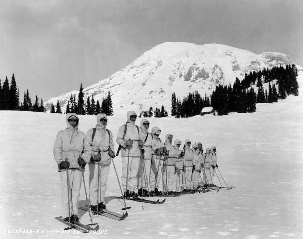 10th Mountain Division Pioneers Training in United States Circa 1941