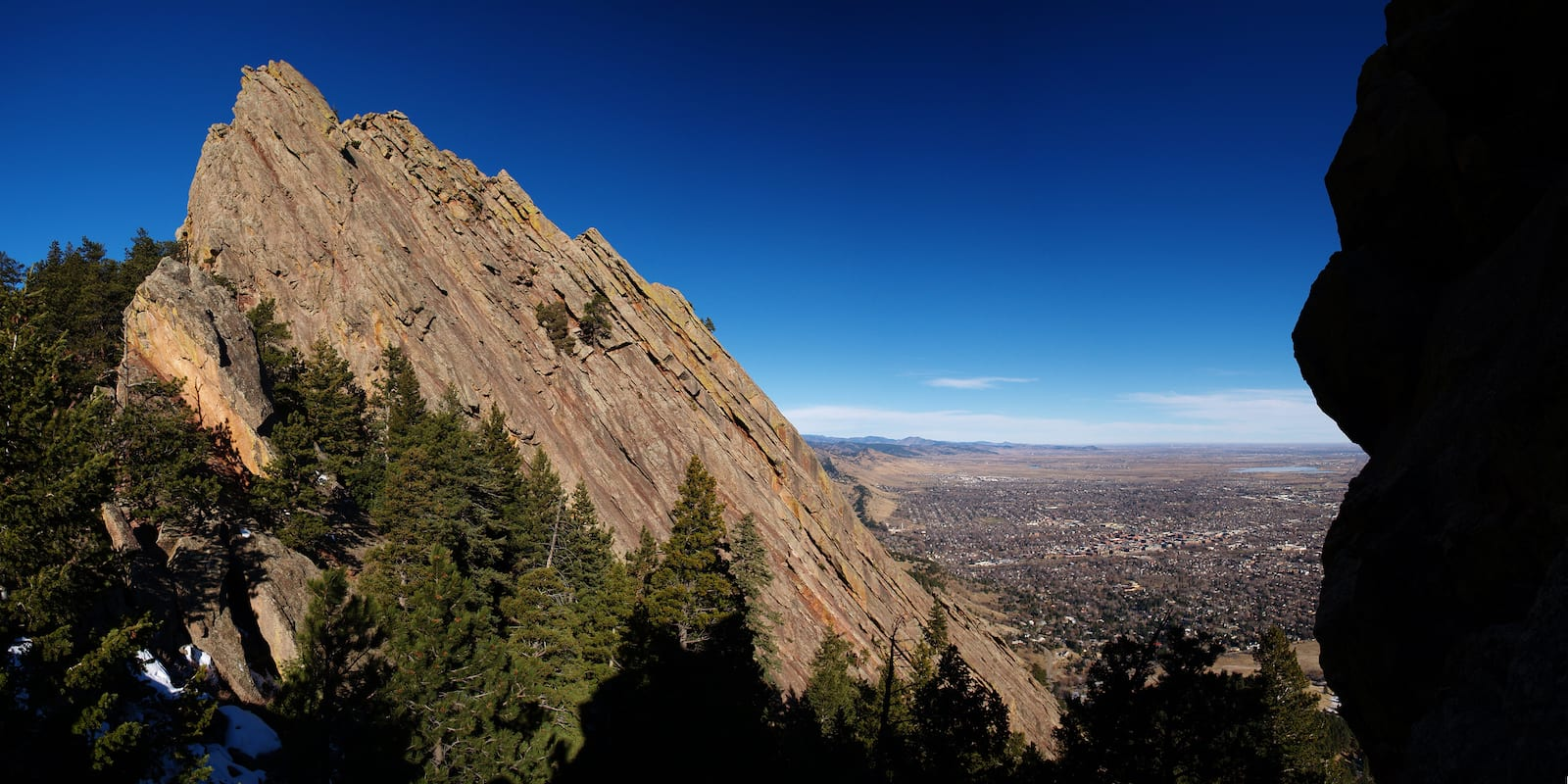 Boulder Colorado Front Range View Flatirons