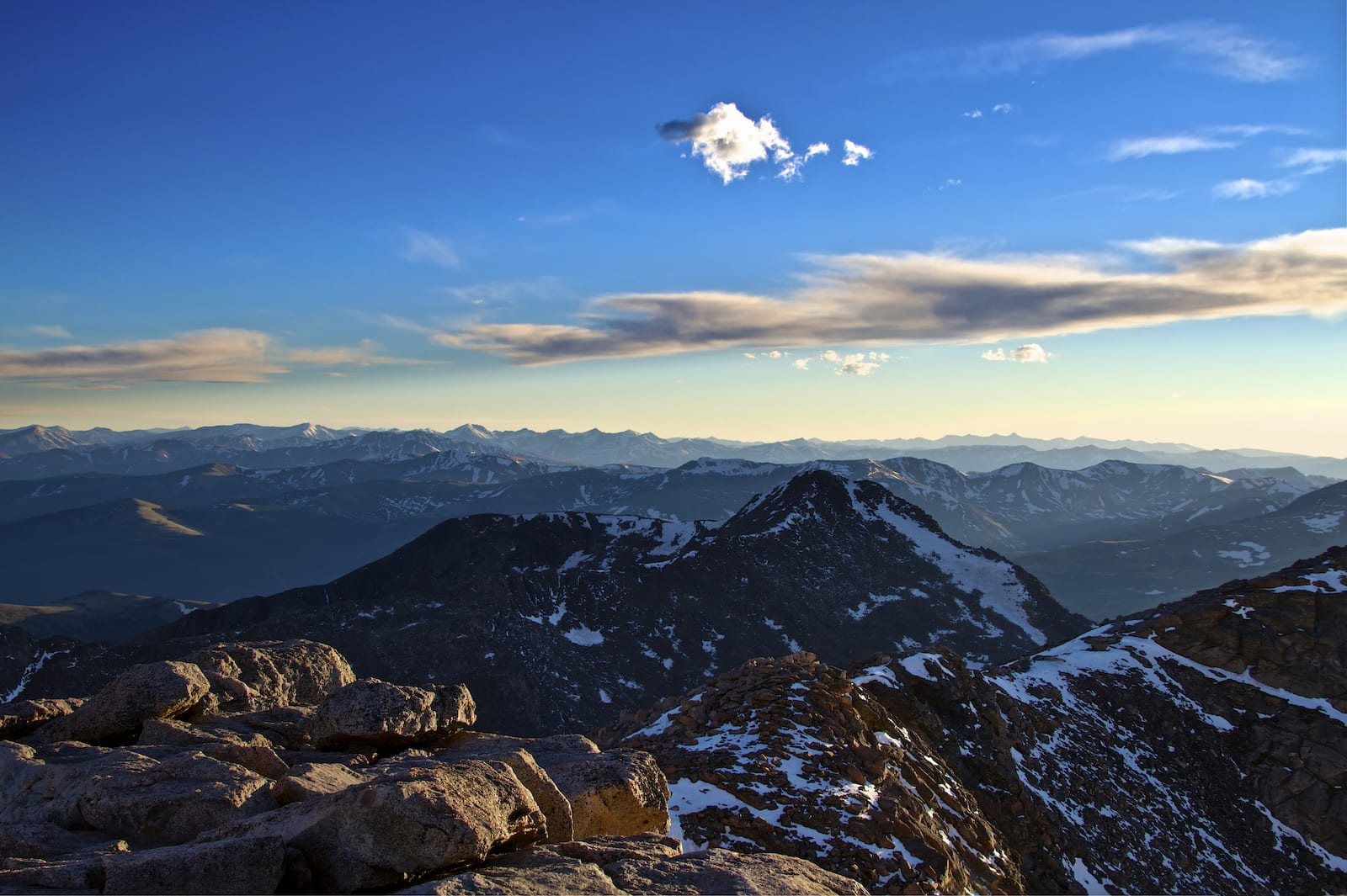 Colorado Front Range Mountains from Atop Mount Evans