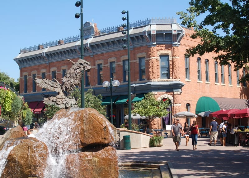 Colorado Front Range Old Town Fort Collins Pedestrian Mall