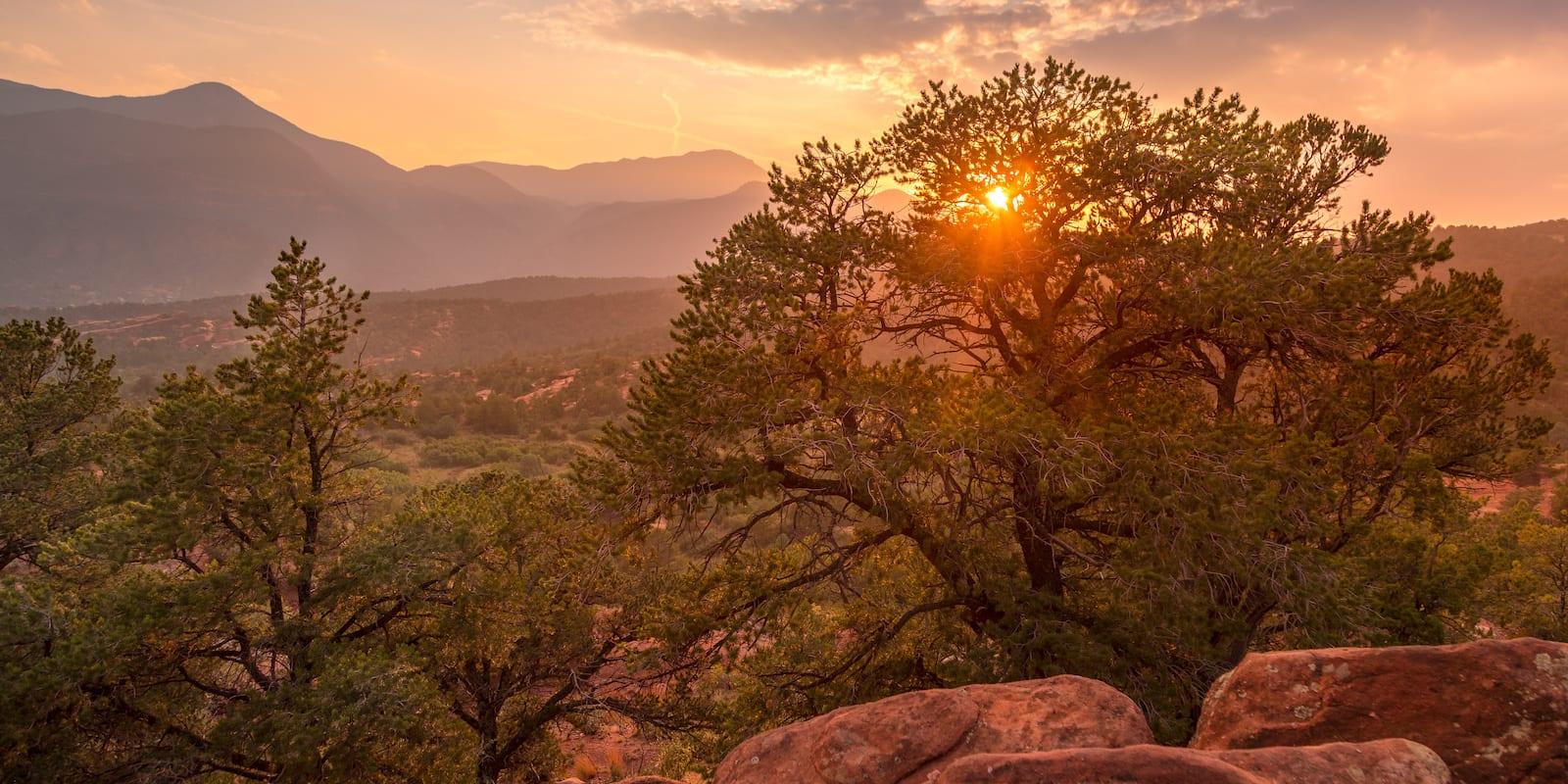 Pikes Peak Sunset Colorado Front Range