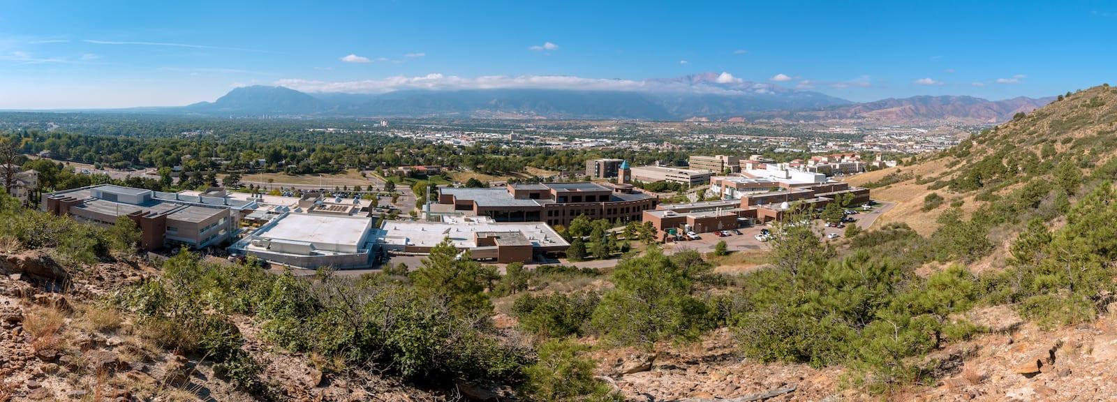 Colorado Front Range Pikes Peak UCCS Campus