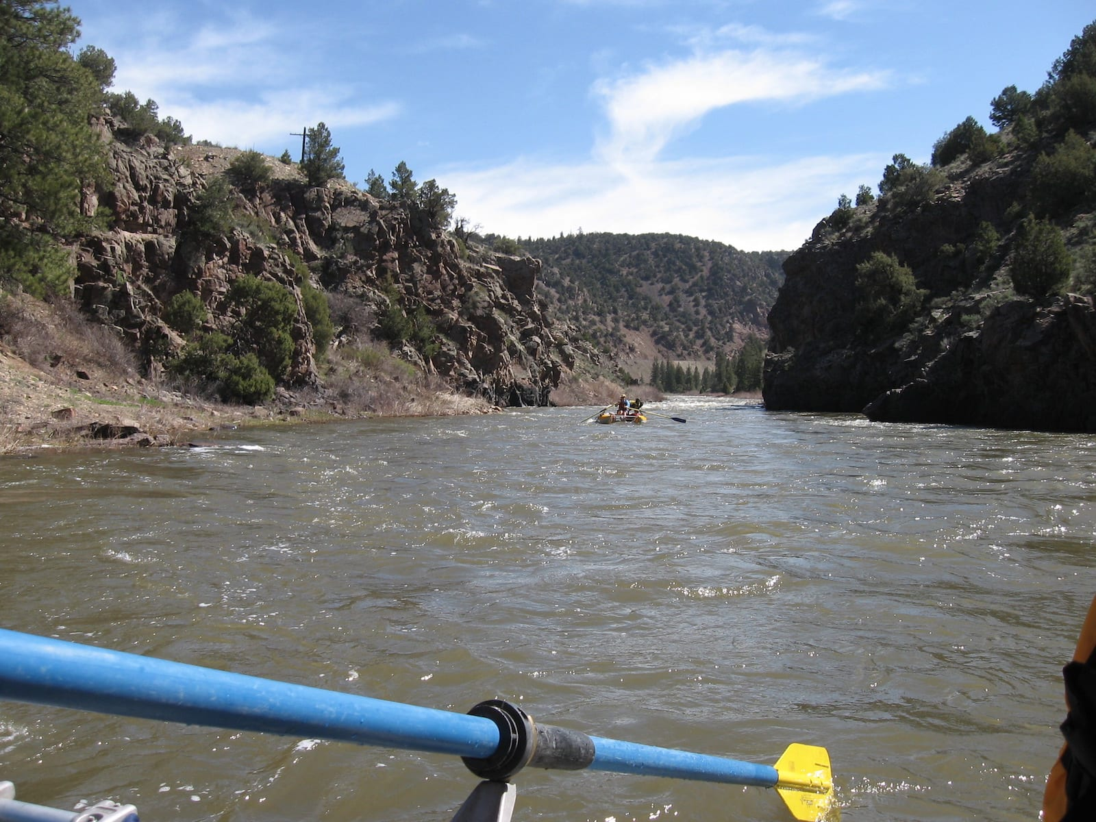 Colorado River Rafters Downstream of Kremmling CO