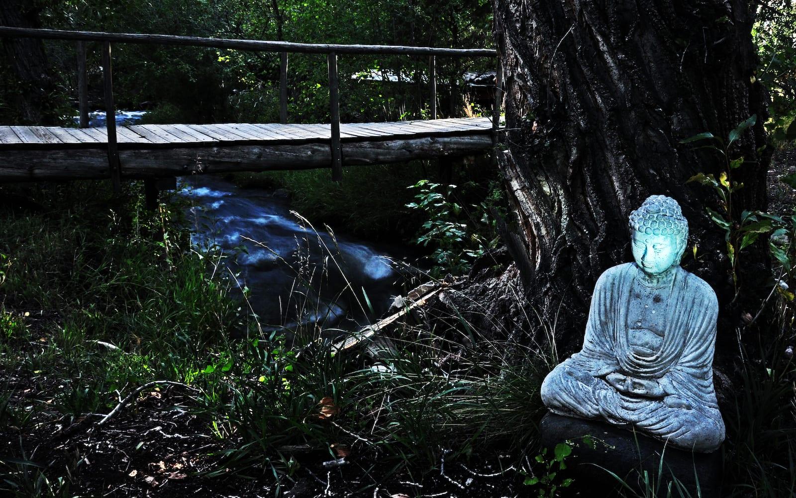 Crestone Colorado Meditating Buddha Statue