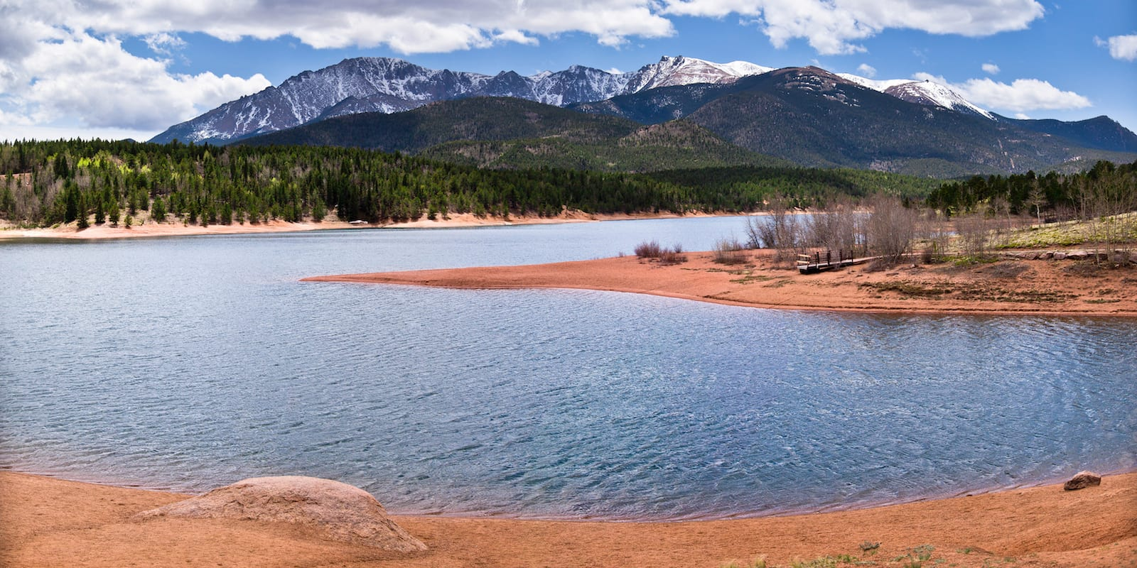 Crystal Creek Reservoir Beach Shoreline Peak Colorado