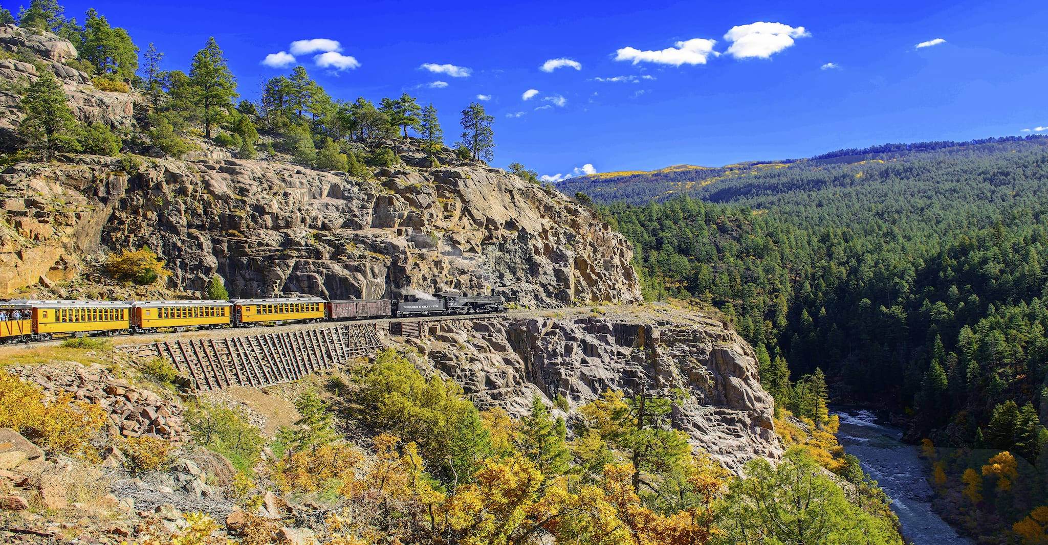 Durango and Silverton Railroad Animas River Canyon Colorado
