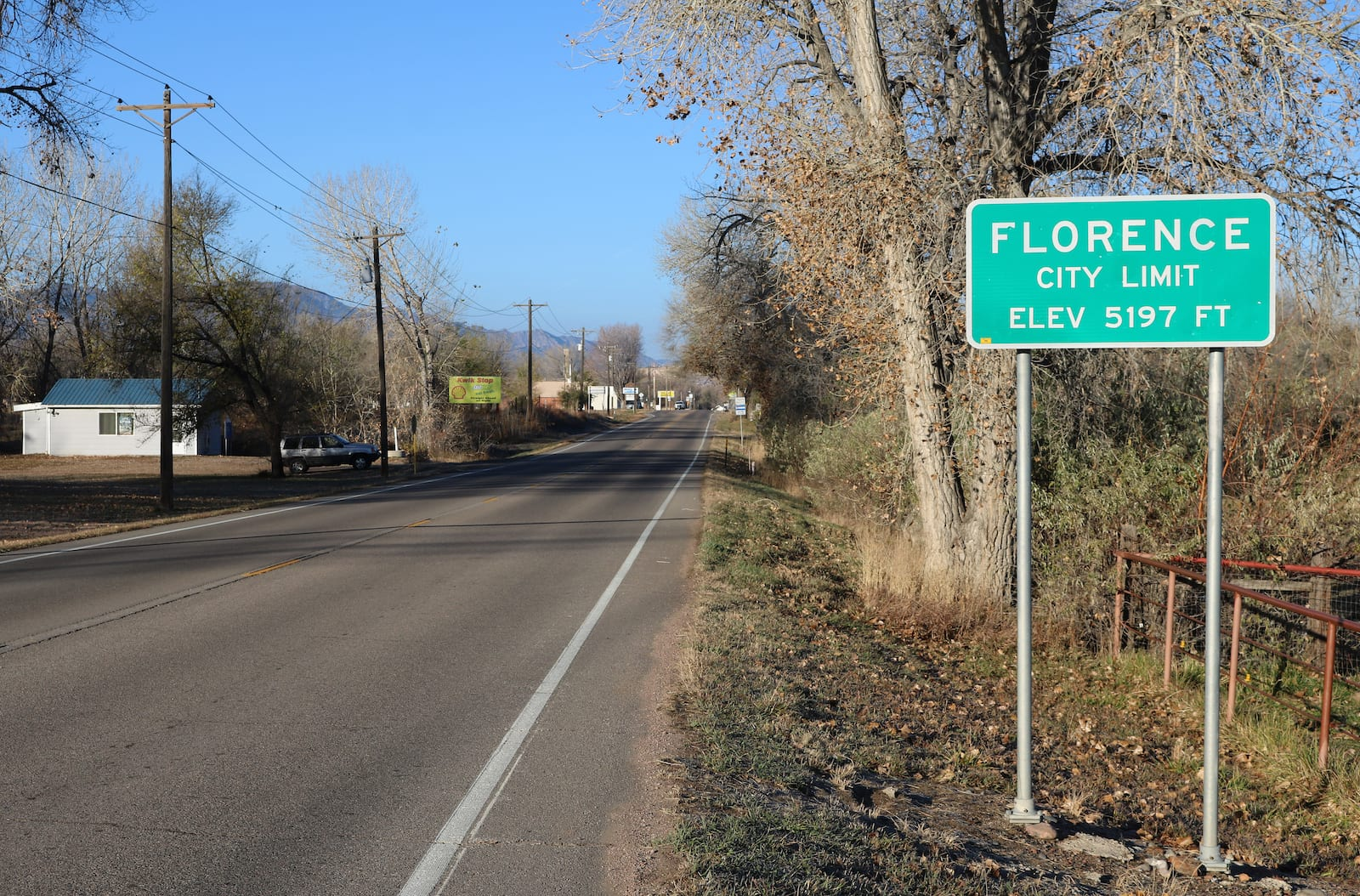 Florence CO City Limit Sign