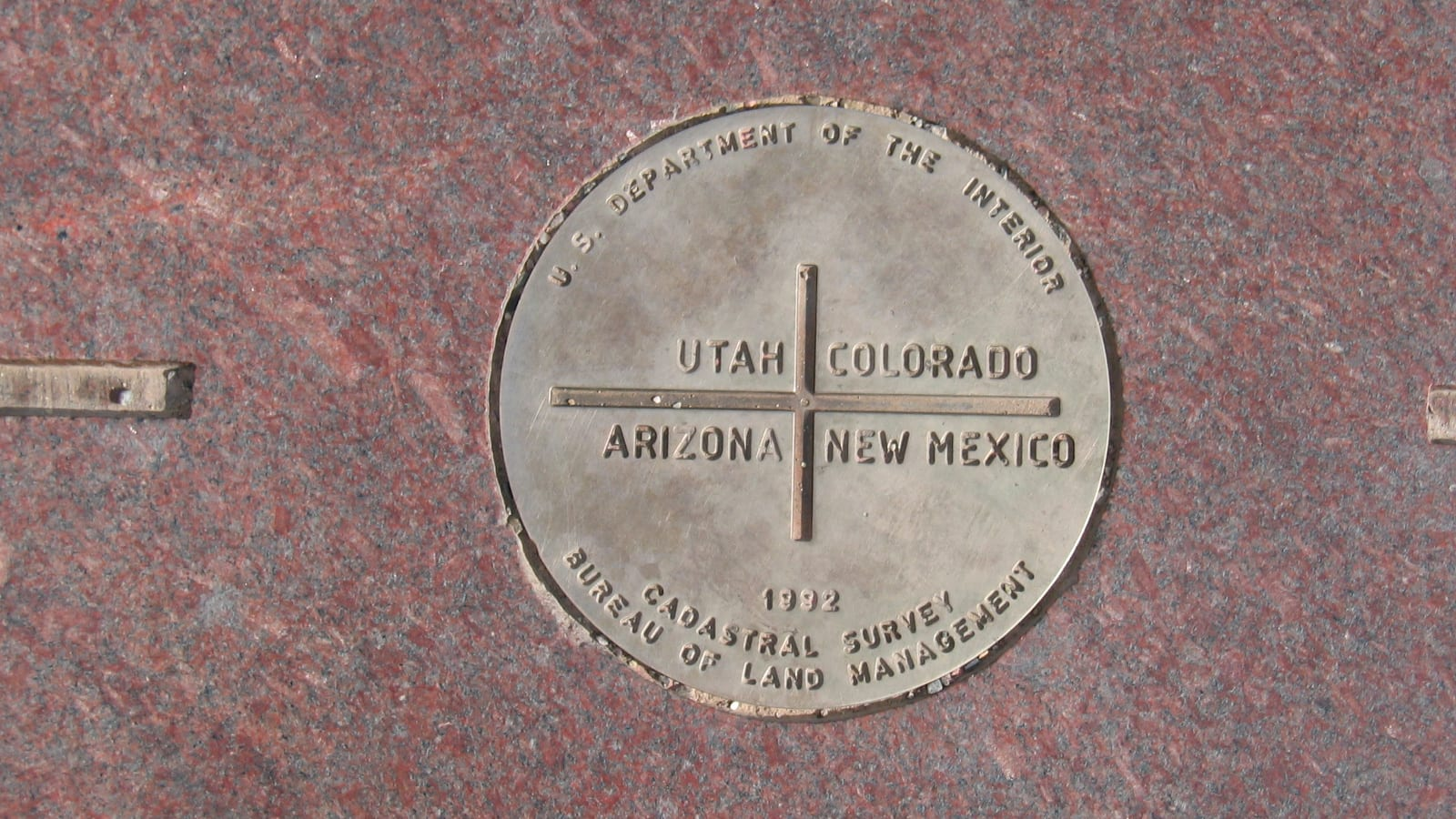 Four Corners National Monument Plaque on Ground