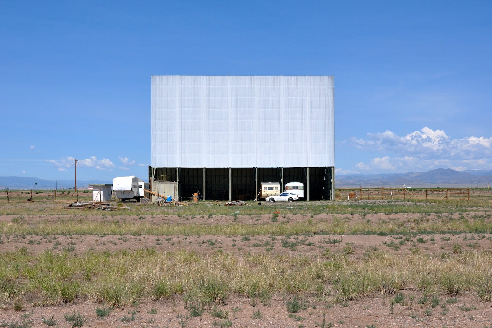 Frontier Drive-In Movie Theater Center Colorado Screen
