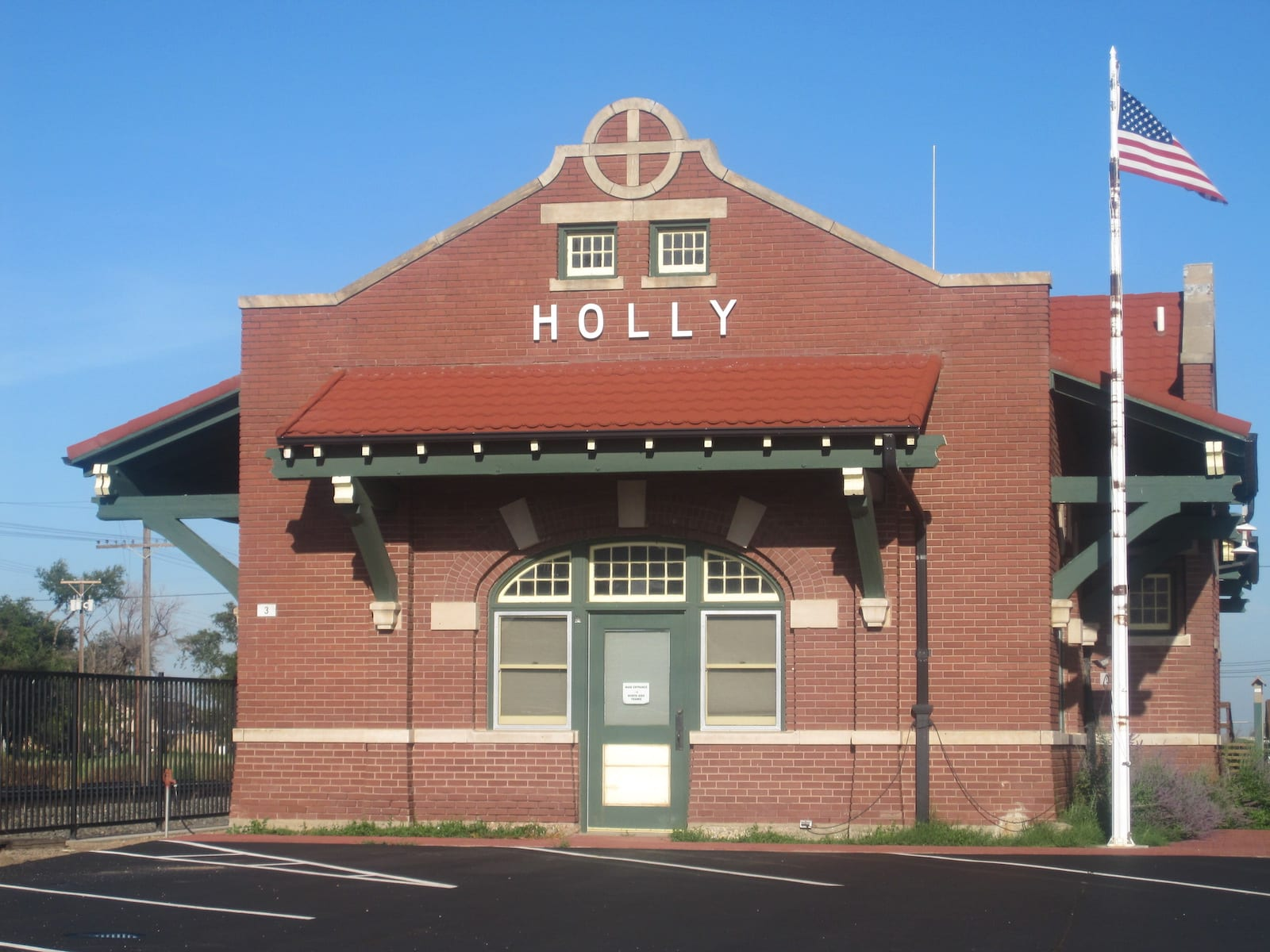 Holly CO Town Hall in Former Santa Fe Railroad Station
