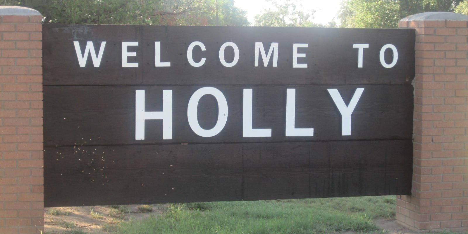Welcome to Holly, CO Sign