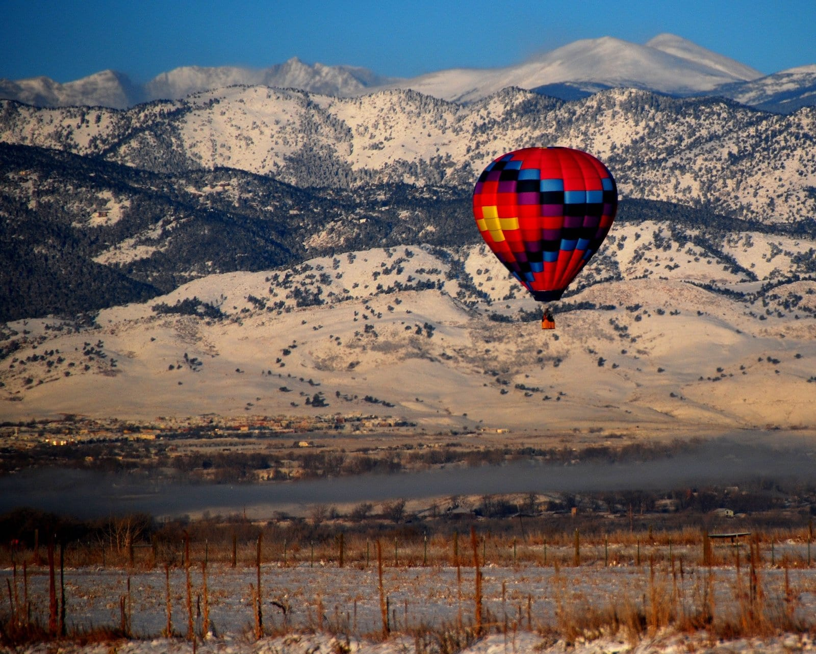 Hot Air Balloon Boulder County, Coloraod