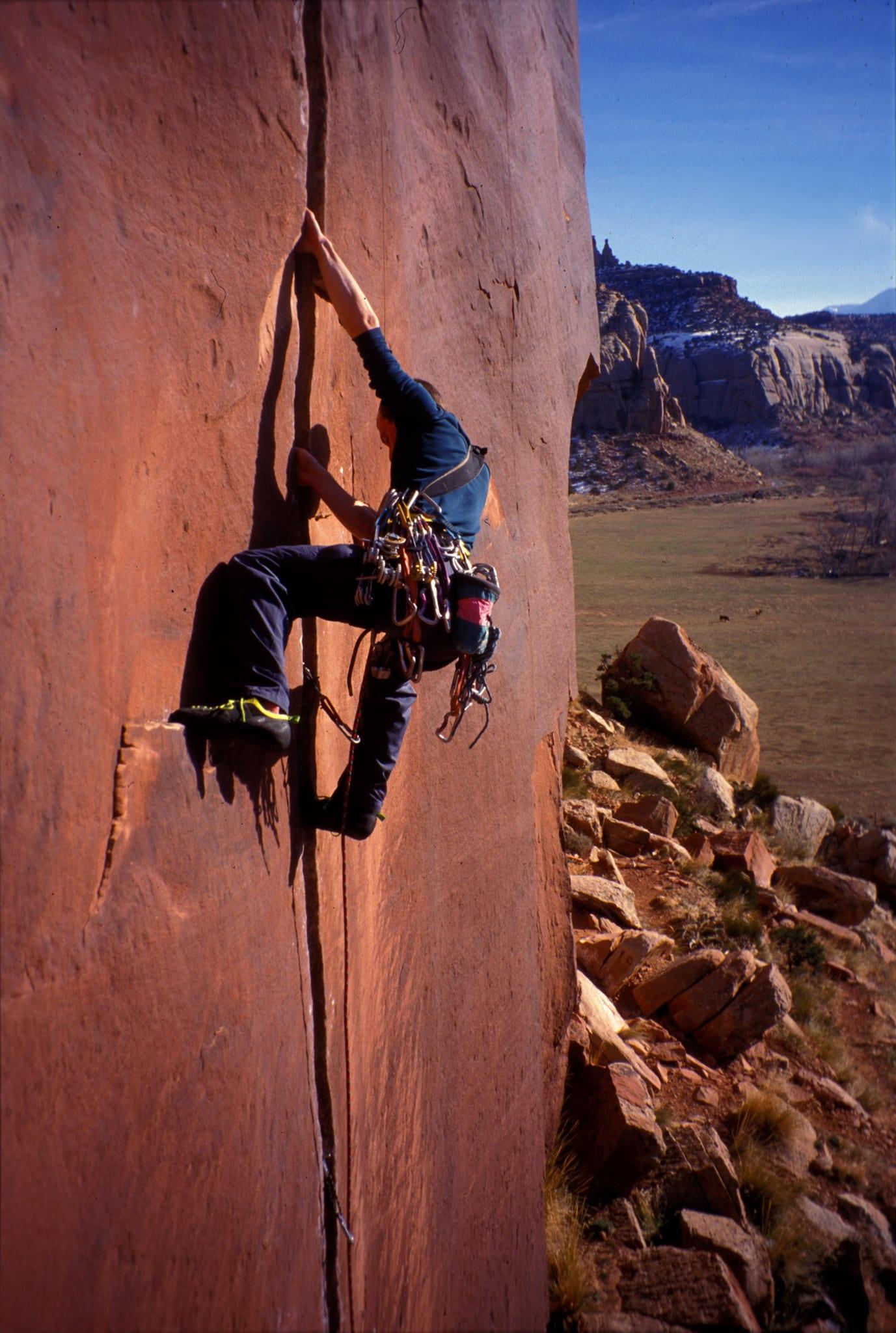 Indian Creek Rock Climbing Coyne Crack Utah