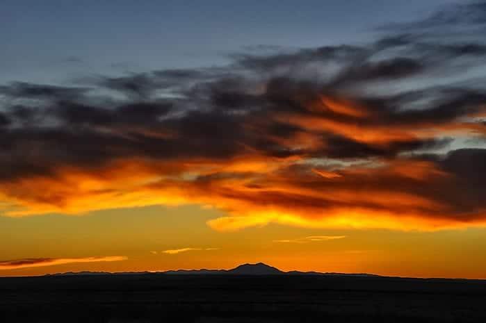 La Junta CO Sunset over Front Range