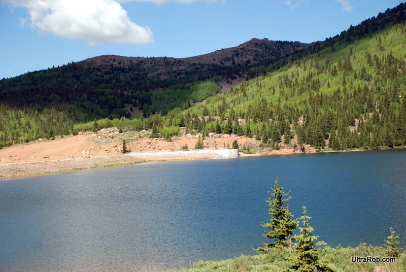 Mason Reservoir and Dam Pikes Peak Colorado Springs