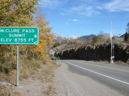 McClure Pass Summit Sign Colorado