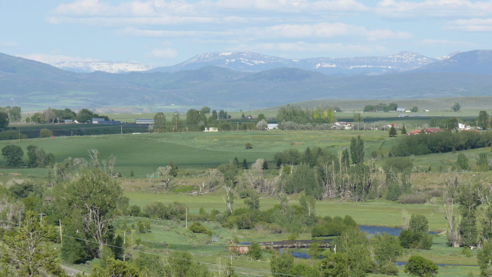 White River Valley Meeker Colorado Flat Top Mountains