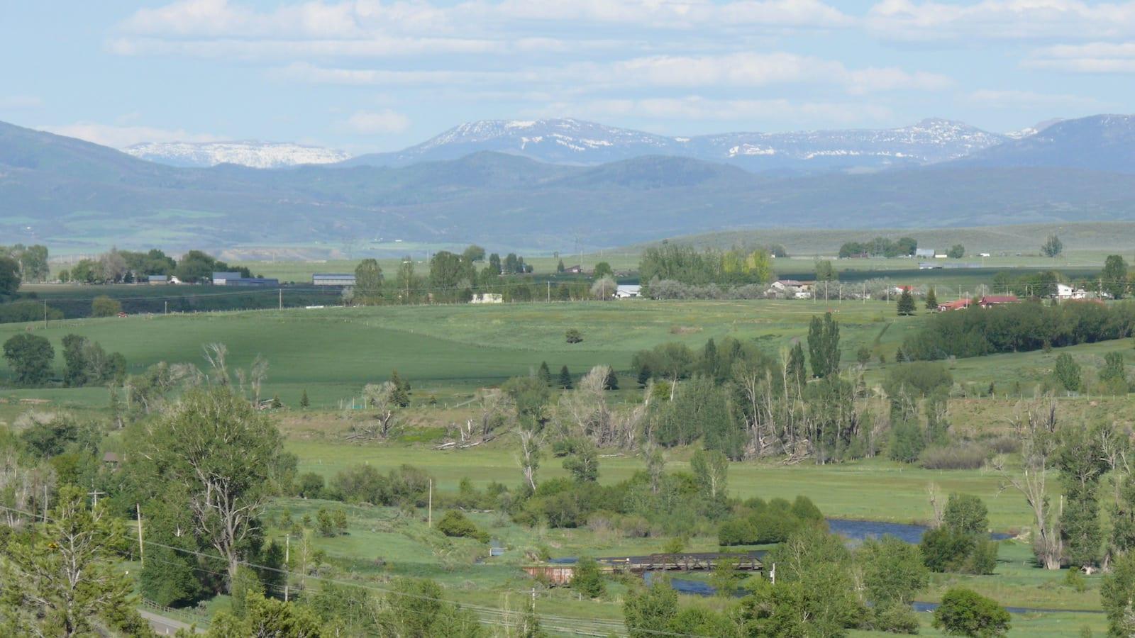 White River Valley Meeker Colorado Flat Top Mountains