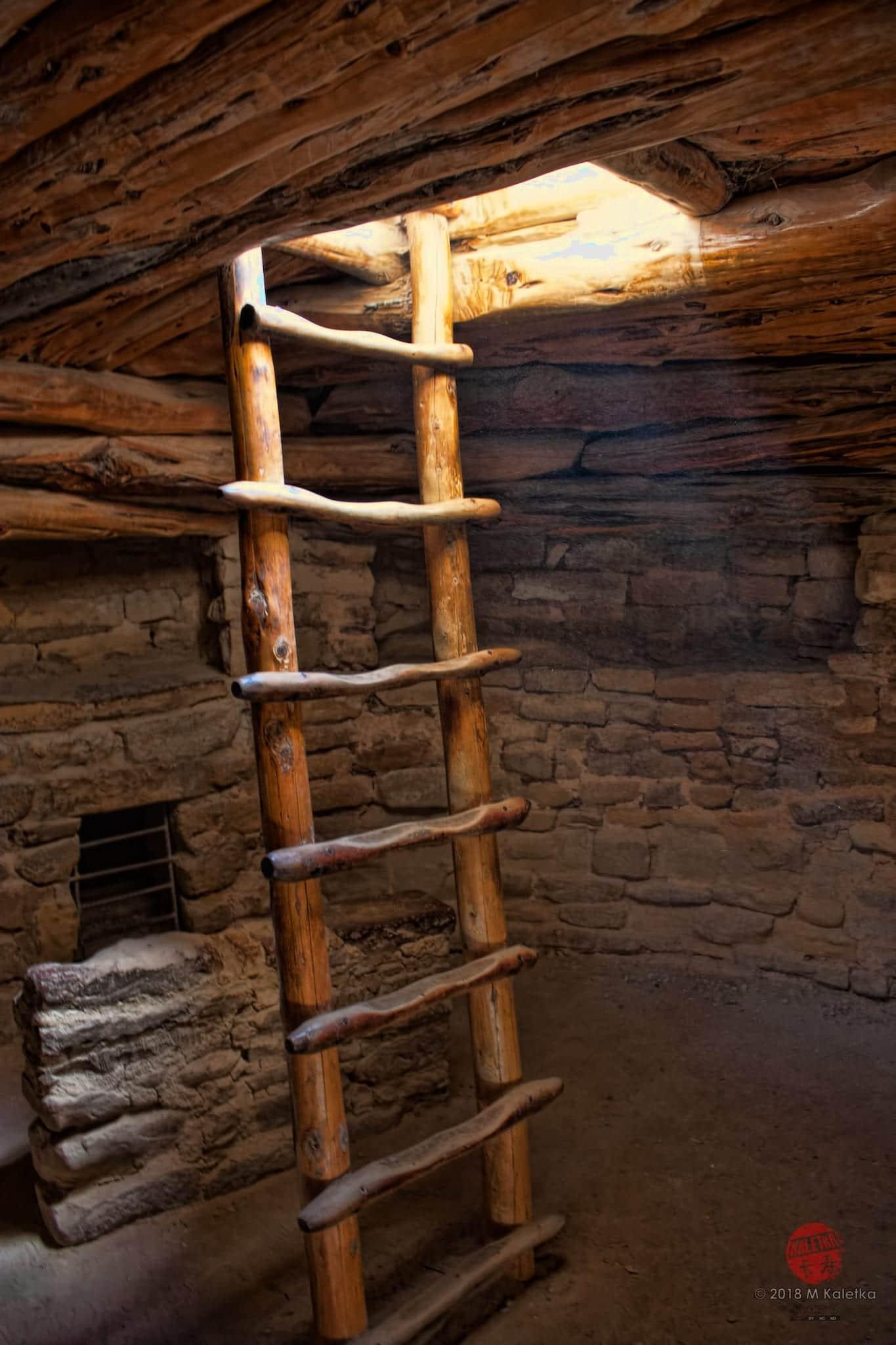Mesa Verde National Park Cliff Dwelling Ladder