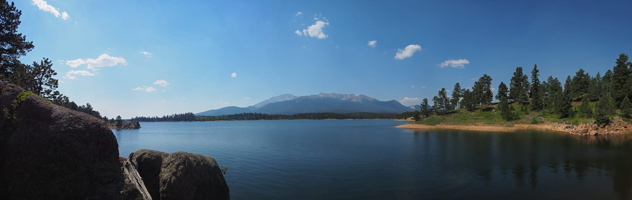 North Catamount Reservoir Pikes Peak Colorado Panorama