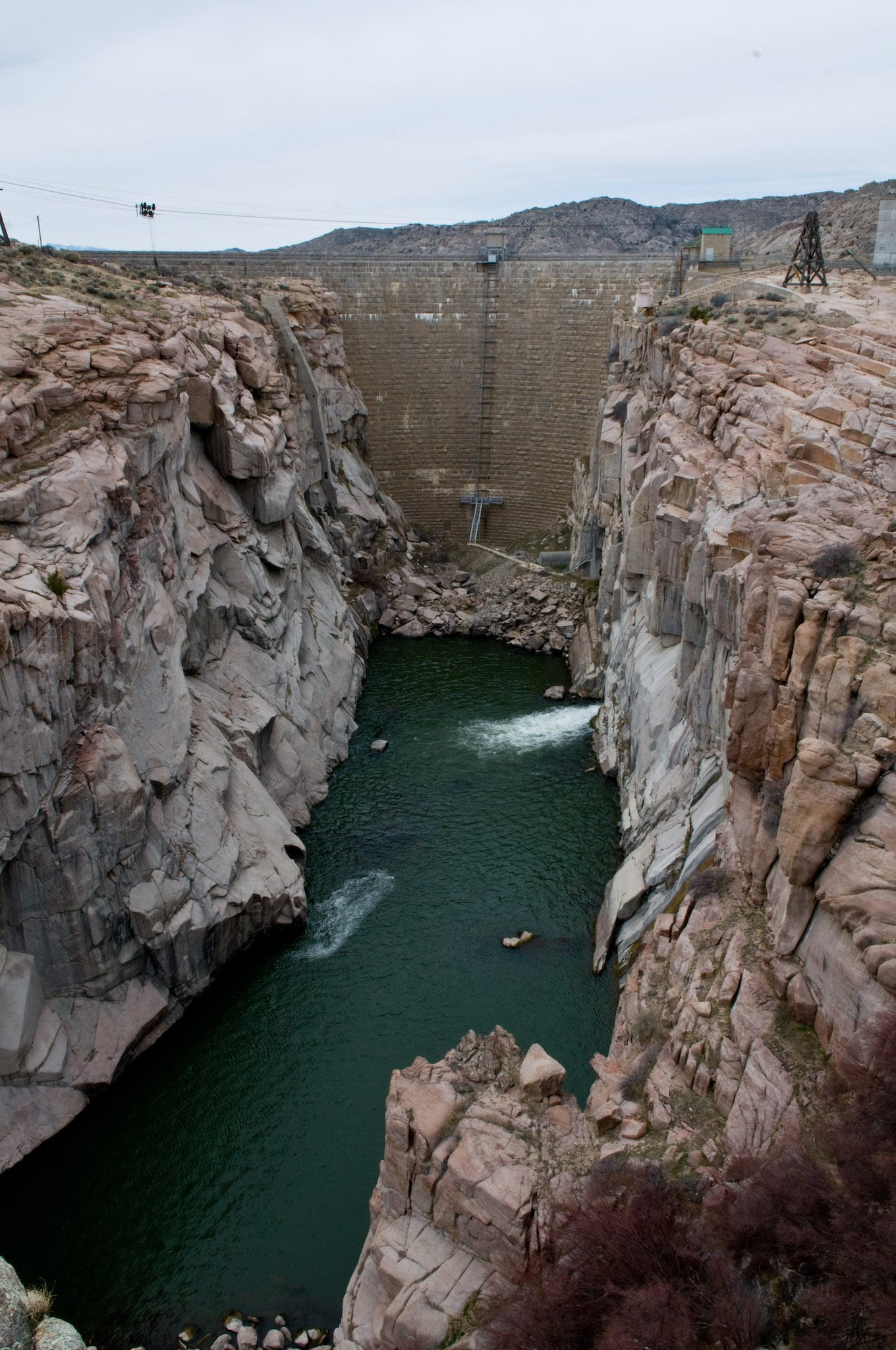 Pathfinder Dam North Platte River Wyoming