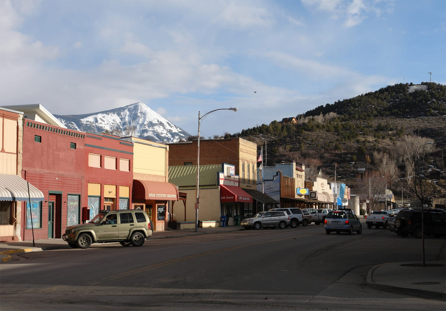 Downtown Paonia CO Grand Avenue
