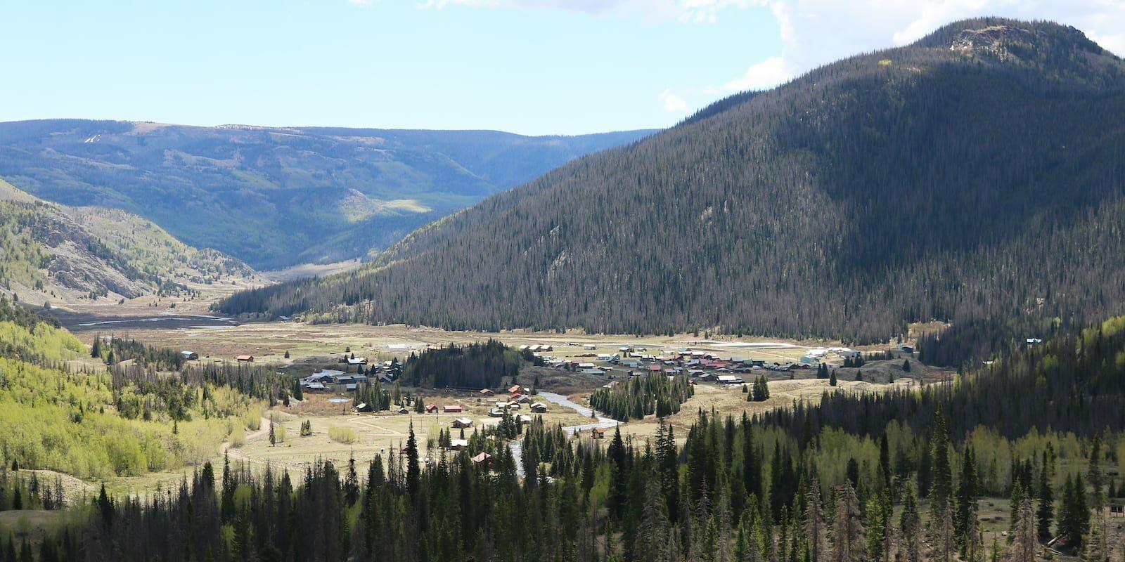 Platoro Colorado Overlook from Forest Road 250