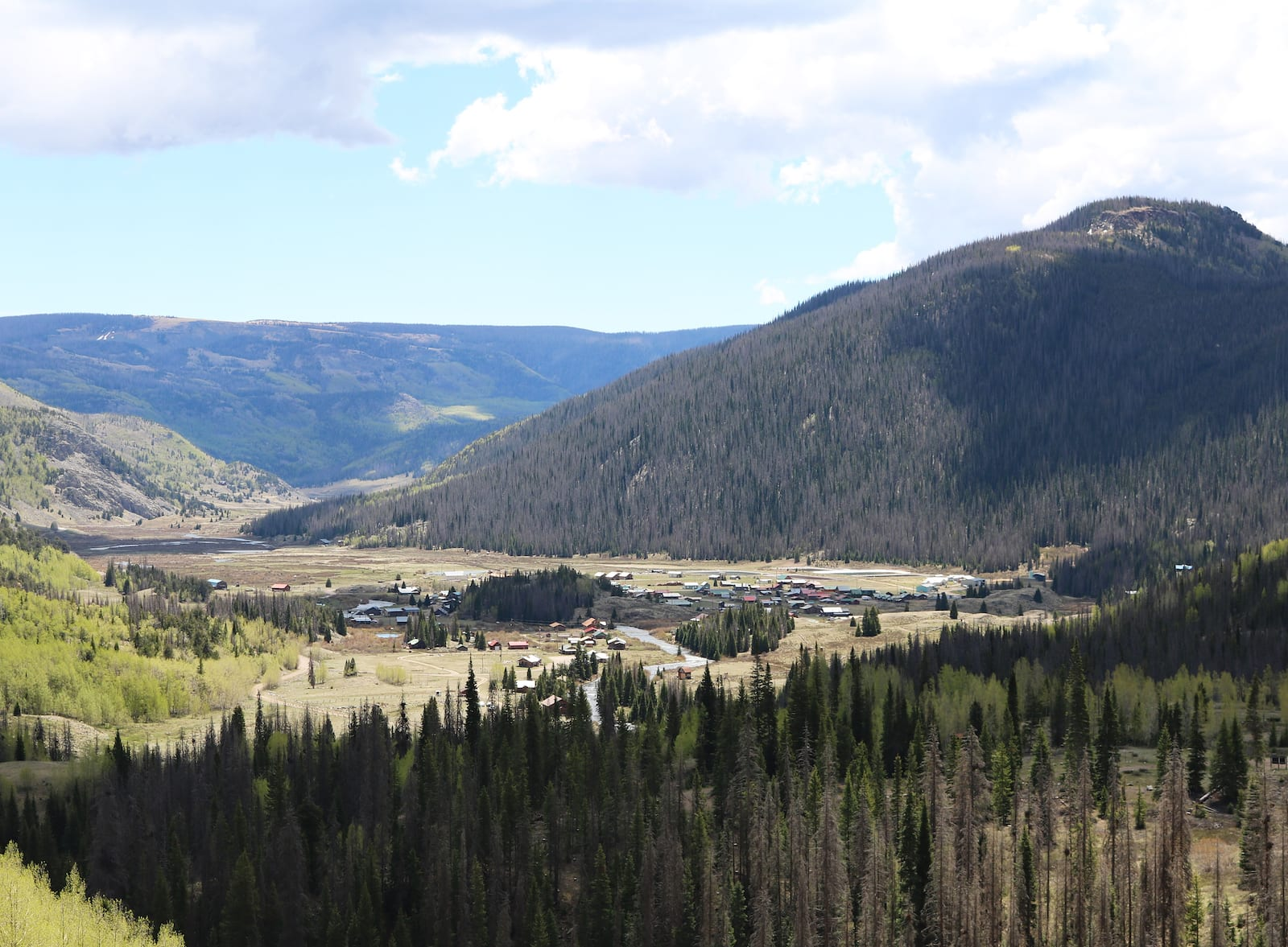 Platoro Colorado Overlook from Forest Road 250