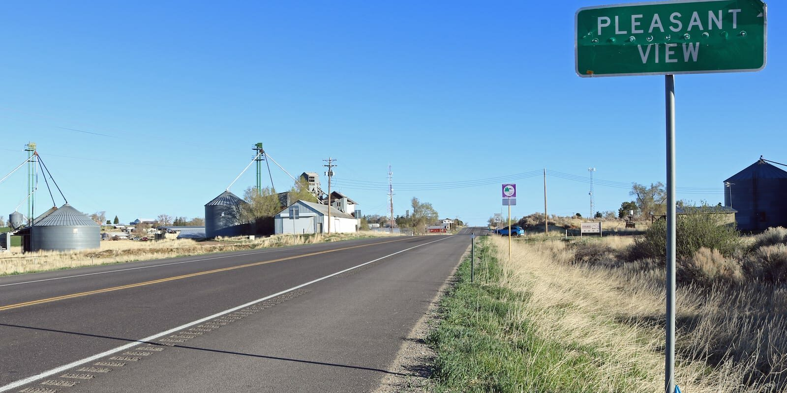 Pleasant View CO Sign Highway 491