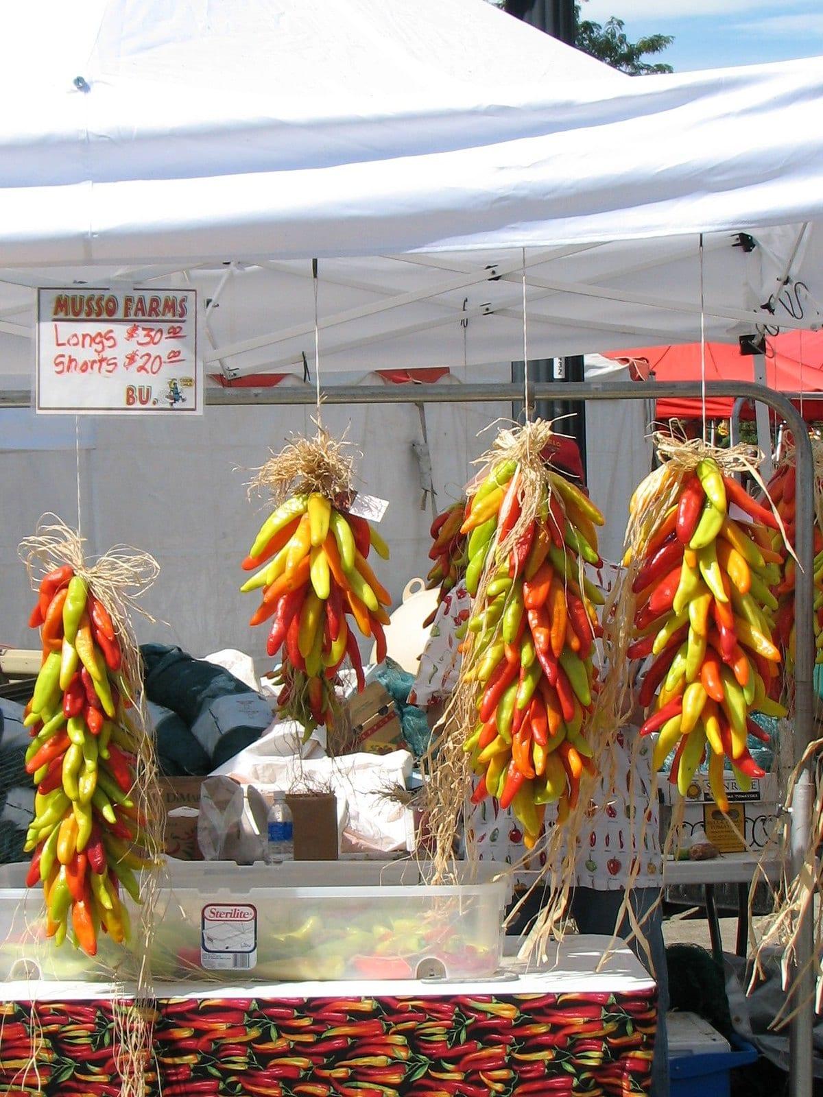 pueblo chile di pasar petani