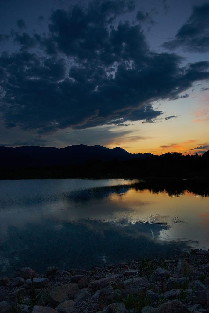 Quail Lake Colorado Springs Sunset