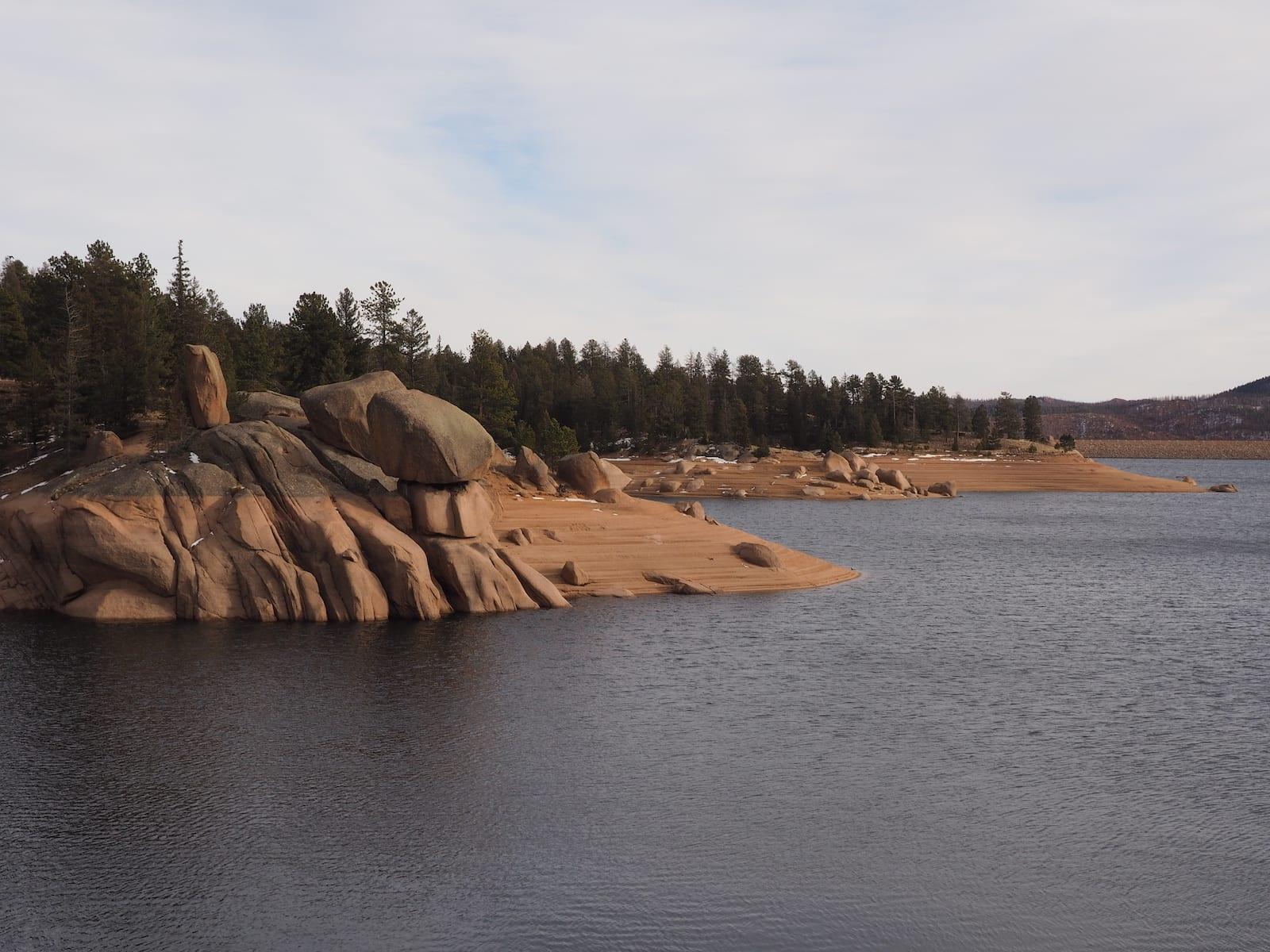 Rampart Reservoirs Boulder Shoreline Woodland Park Colorado