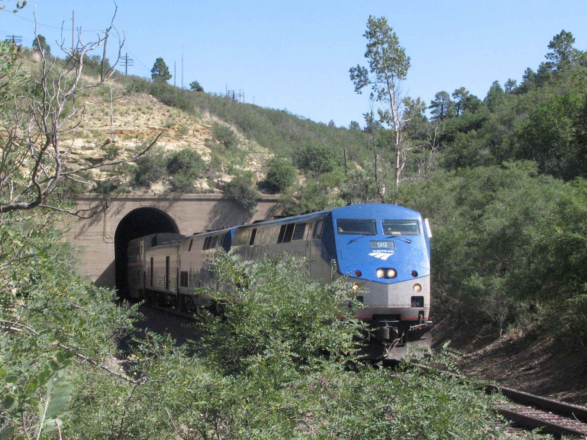 Raton Pass Amtrak Train Westbound Southwest Chief