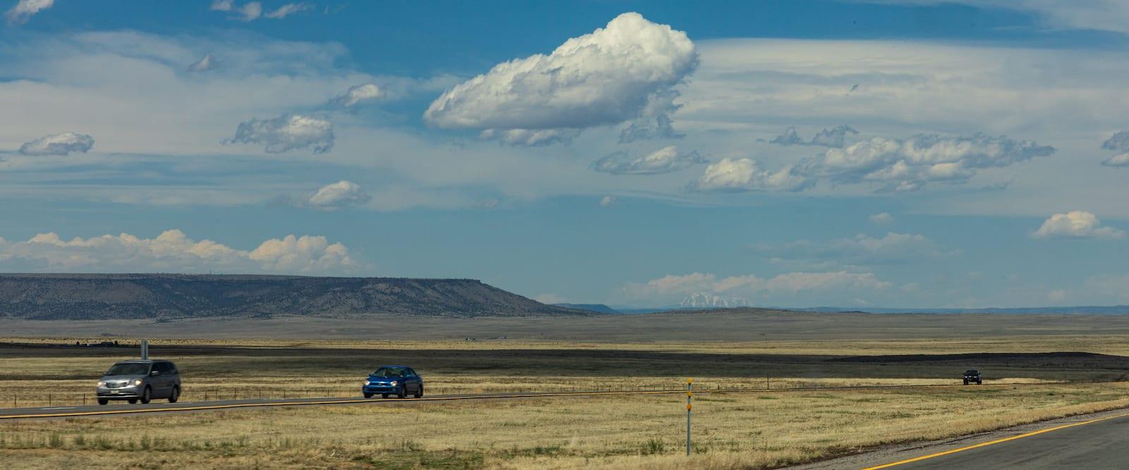 Raton Pass Border Between Colorado and New Mexico I-25
