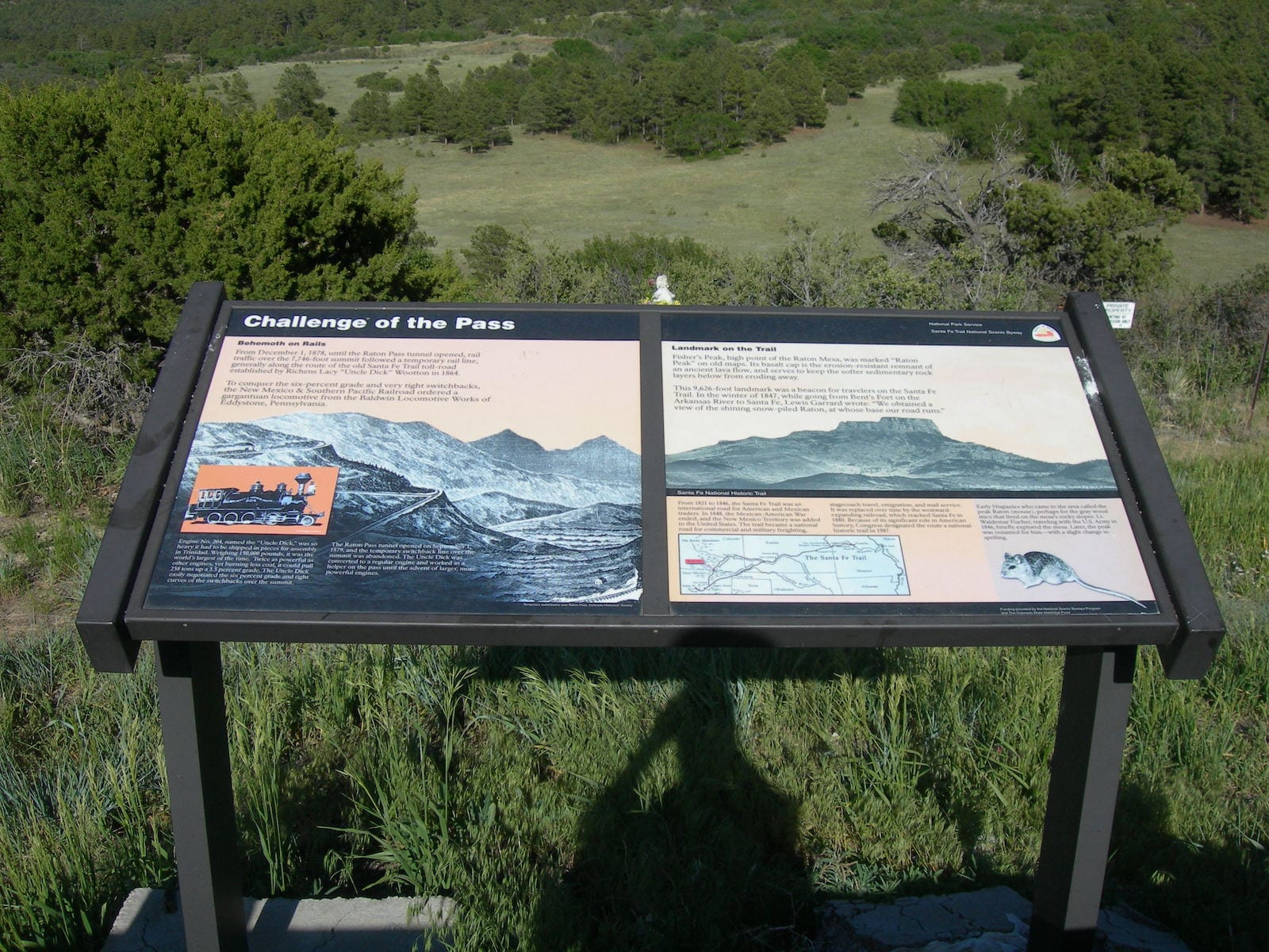 Raton Pass Historic Sign I-25 Colorado