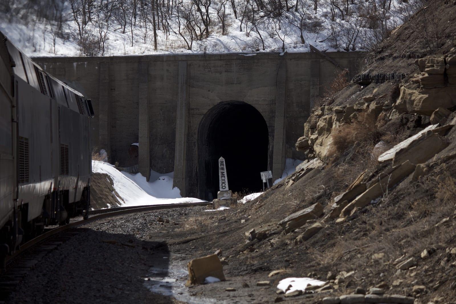 Raton Pass Tunnel Amtrak Train