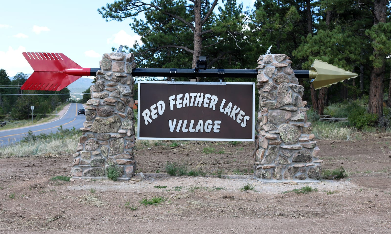 Red Feather Lakes Village Sign Colorado