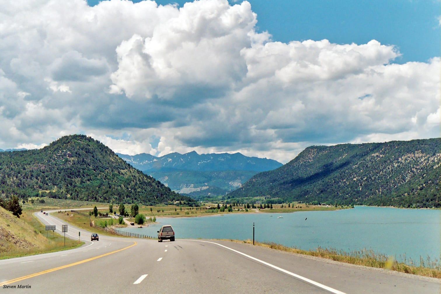 Ridgway Reservoir from Highway 550