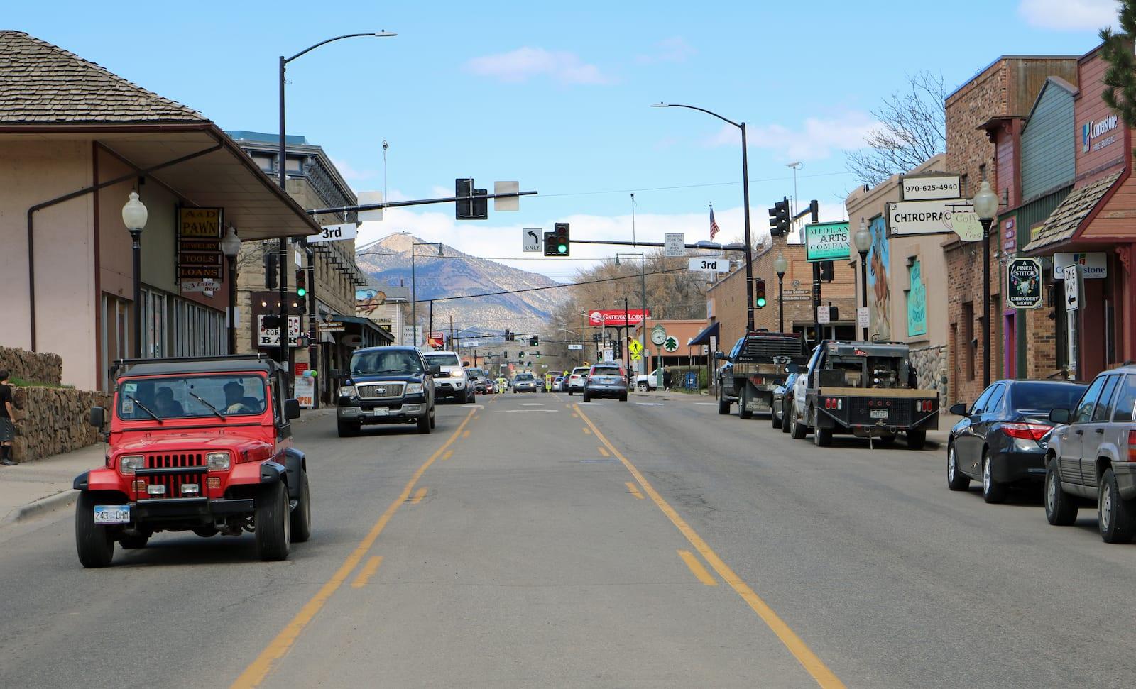 Rifle CO Railroad Avenue Grand Hogback Mountain