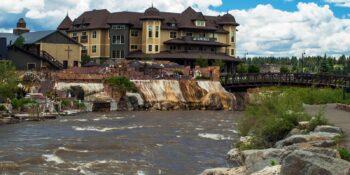 San Juan River Passing The Springs Resort in Pagosa Springs CO