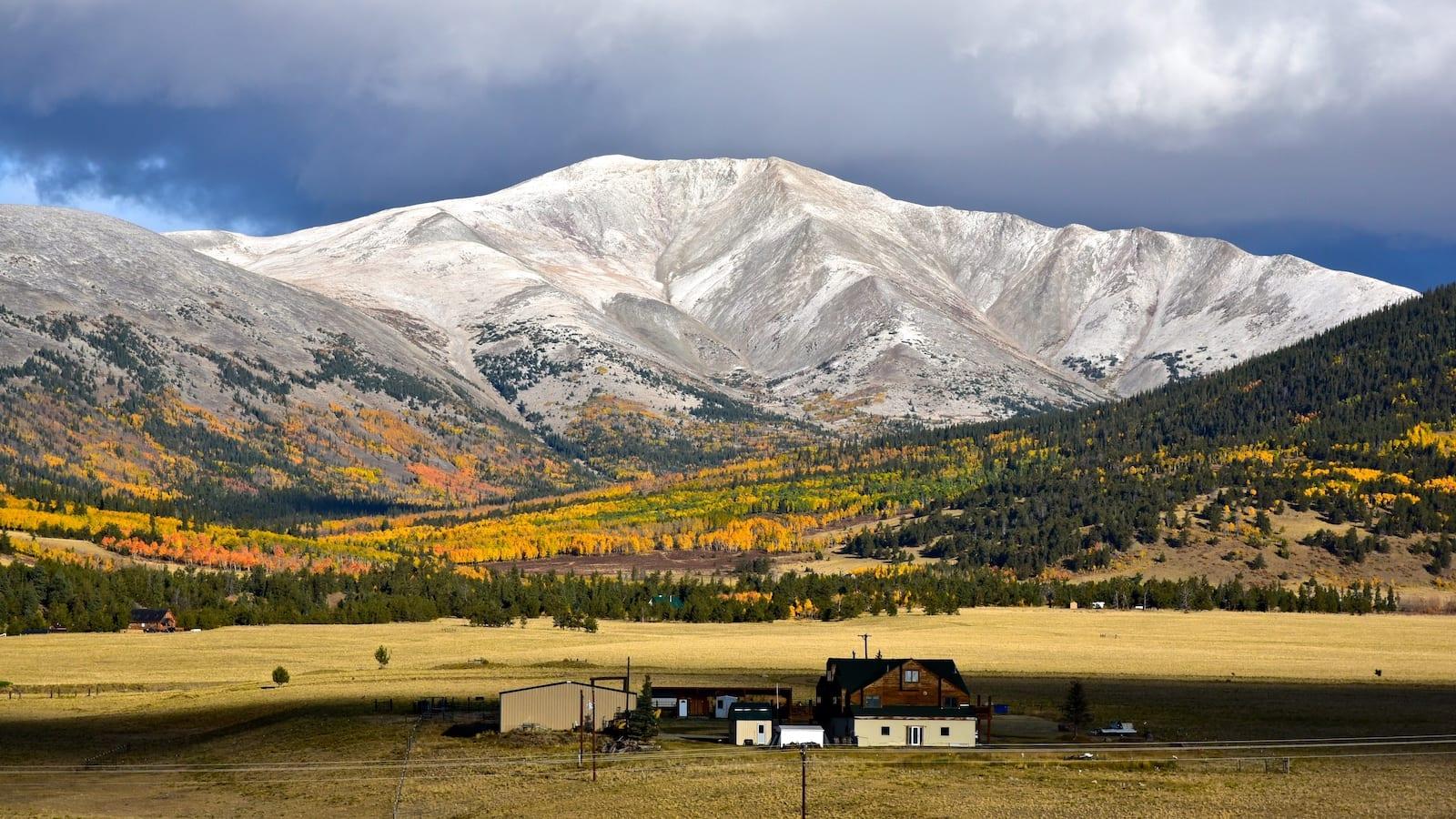 South Park Colorado Autumn Colors Highway 285 near Fairplay