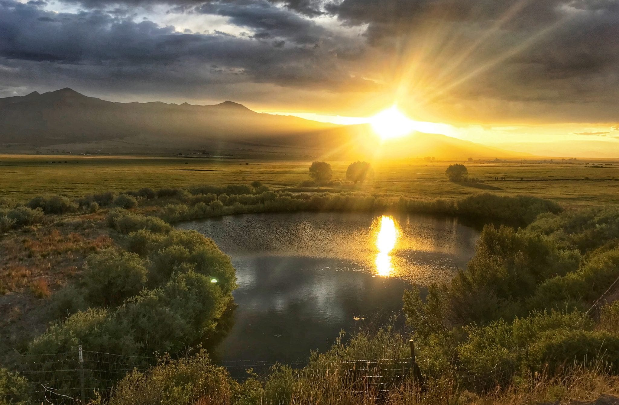image of sunset in westcliffe