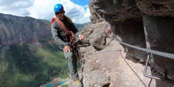 Via Ferrata Telluride Guide Aaron San Juan Mountain Guides