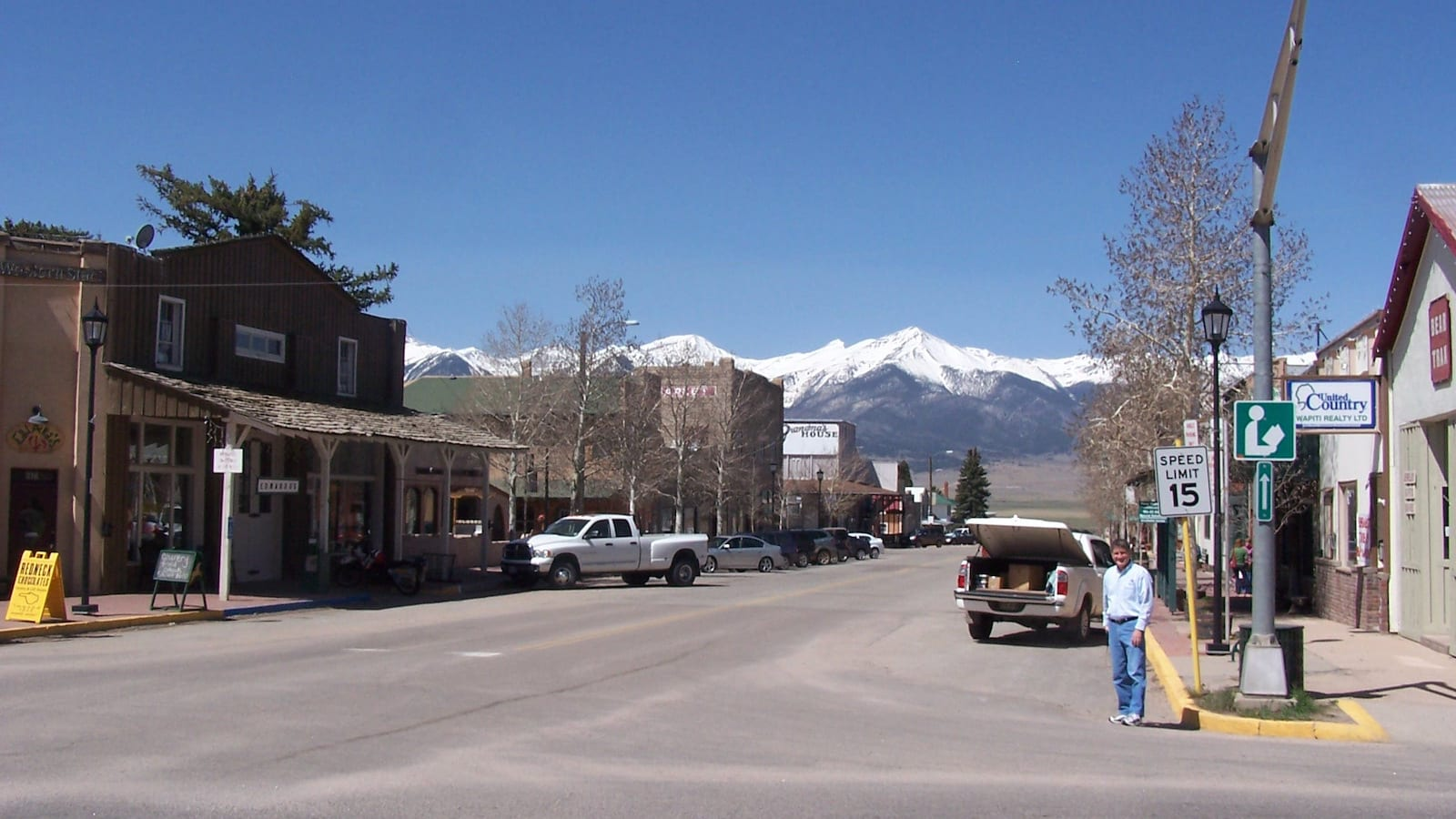 Downtown Westcliffe CO Main Street Sange De Cristo Mountains