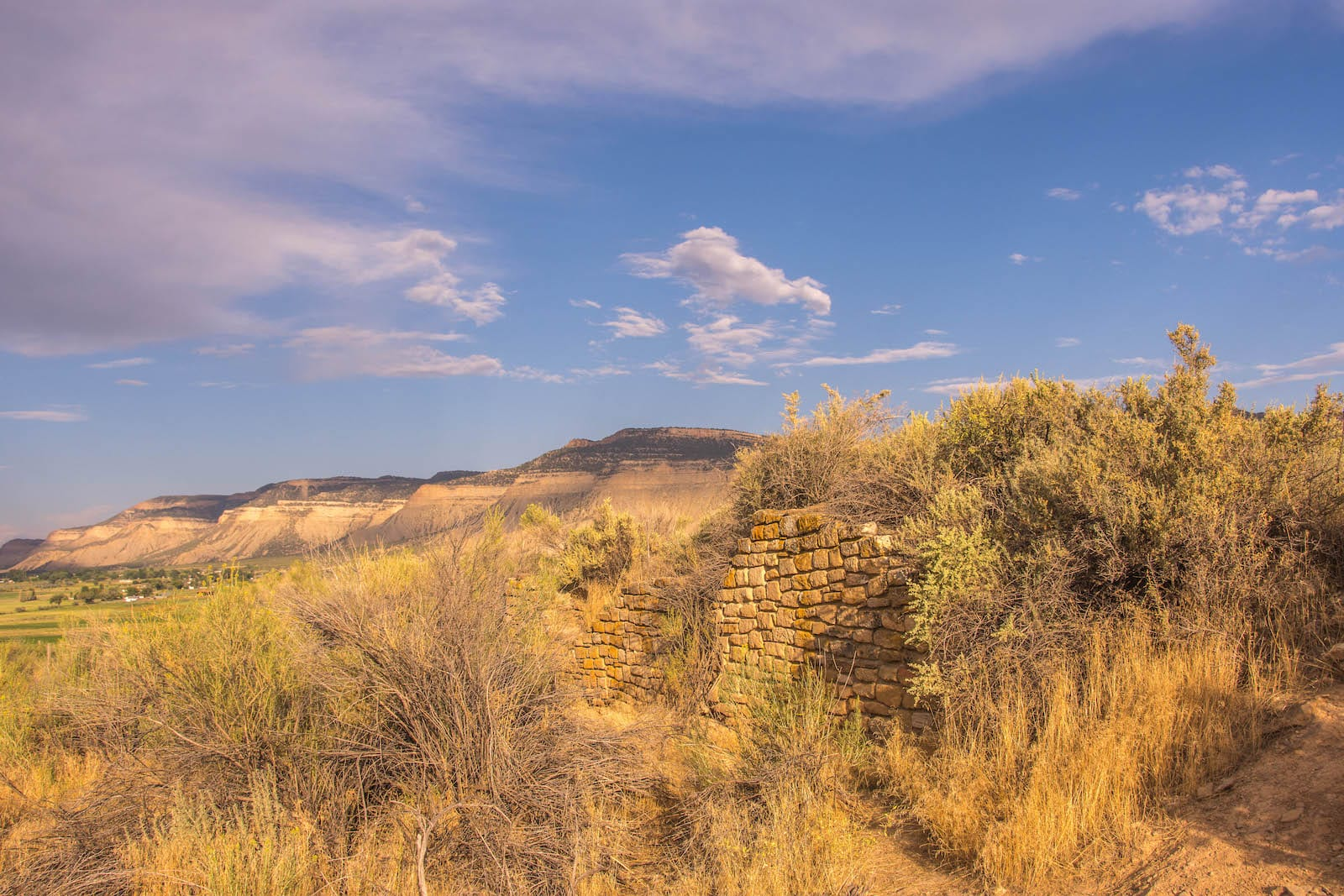 Yucca House National Monument Colorado Ruins