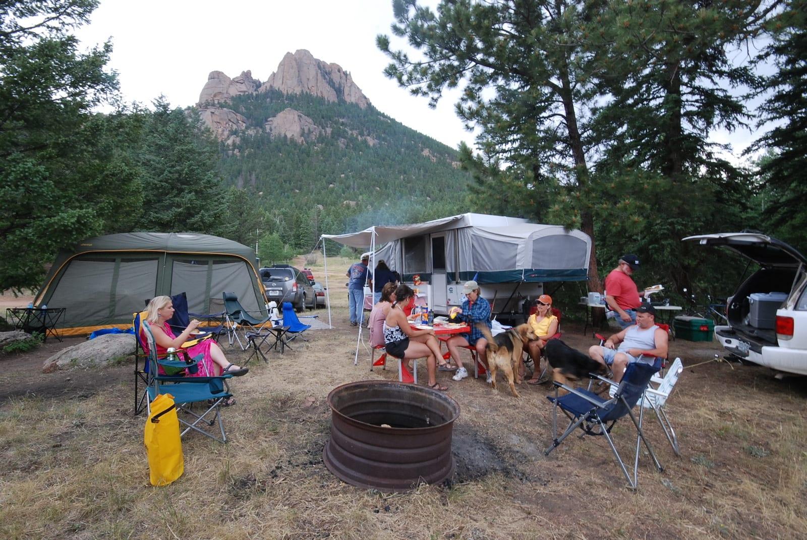 Camping near Wellington Lake, CO