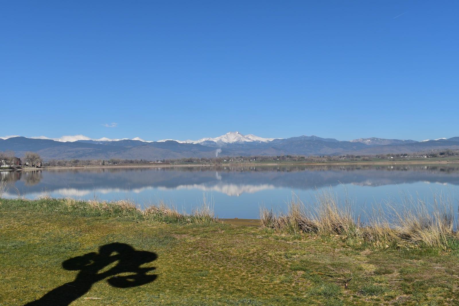 Longs Peak reflects in McIntosh Lake, CO