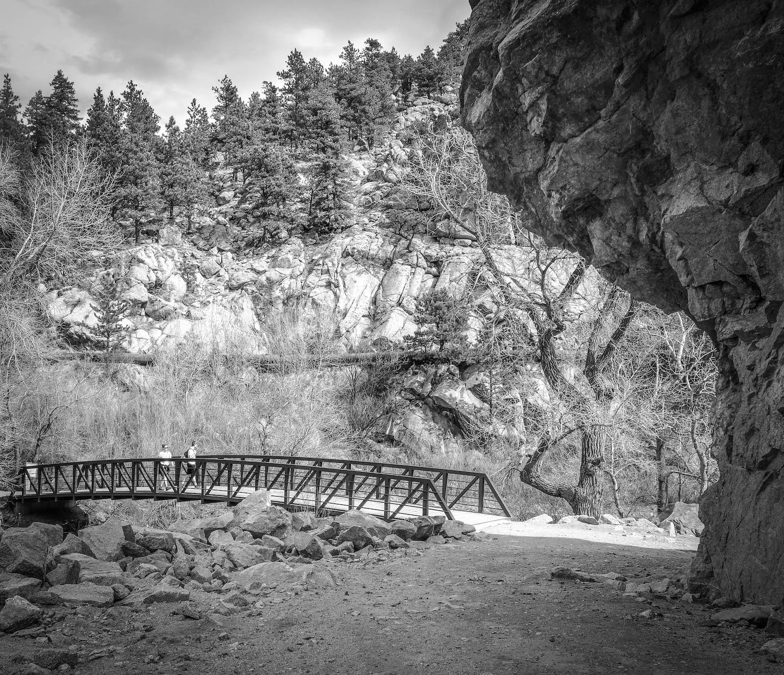 Boulder Creek Trail Bridge Colorado
